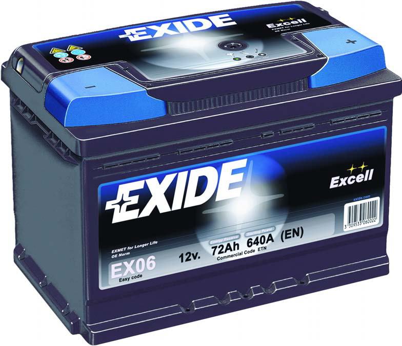 Exide Excell 35Ah 240A EB357 L